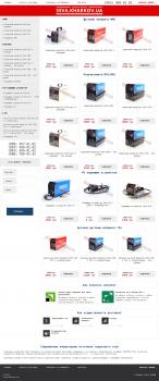 сайт-визитка сварочных аппаратов