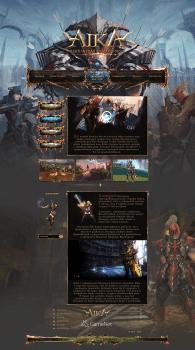Дизайн игрового сайта Ayka