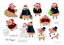 "Стикеры ""Mr Piggyan"""