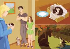 Иллюстрации Детская книга Вектор