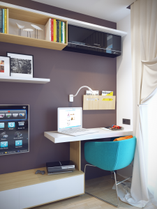 Дизайн однокомнатной квартиры для фирмы АБАК