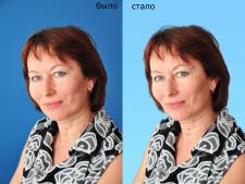 Обтравка портрета с переносом на новый фон