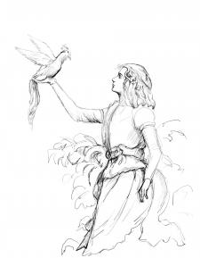 ангел с птицей