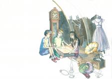 Фрагмент ілюстрації до дитячої книжки