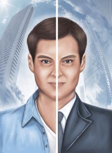 Иллюстрация портрет для обложки книги