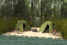 3d моделирование места для рыбалки