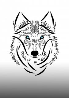 Vector art illustration Wolf