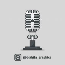 Микрофон - векторная иллюстрация
