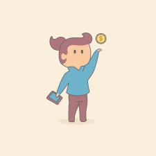 Иллюстрация мобильные финансы