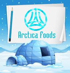 логотип для замороженной еды