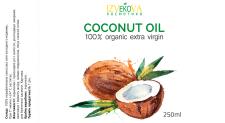 Этикетка для кокосового масла на заказ