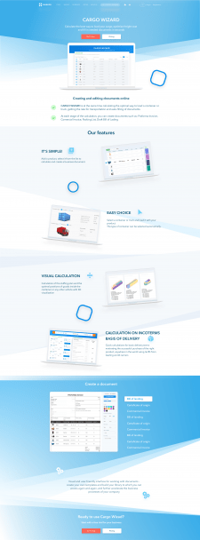 Дизайн лендинга для логистической компании