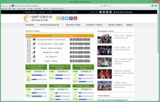 Сайт спортивных событий
