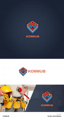 Логотип строй компании KORRUS