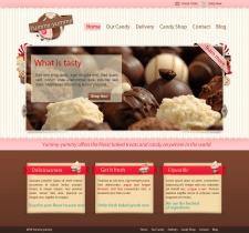 Дизайн интернет-магазина сладостей