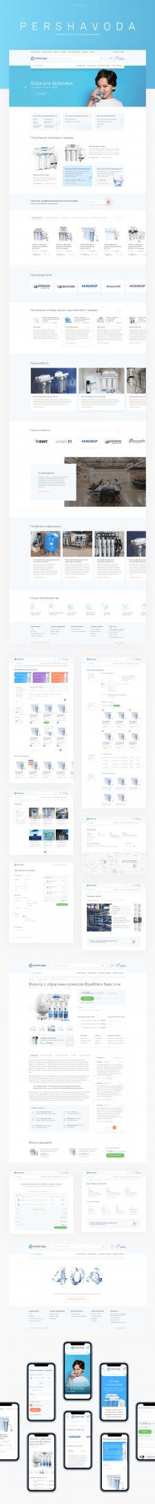 Редизайн интернет магазина по продаже фильтров