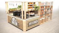 Разработка и визуализация островка кофейни