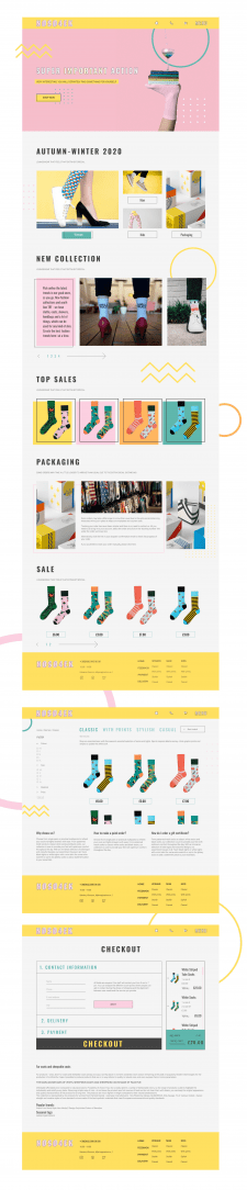 Web shop / Selling socks