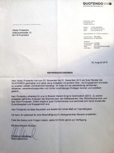 Отзыв о работе SEO-консультантом в немецкой фирме