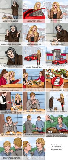 Иллюстрации для видеоролика