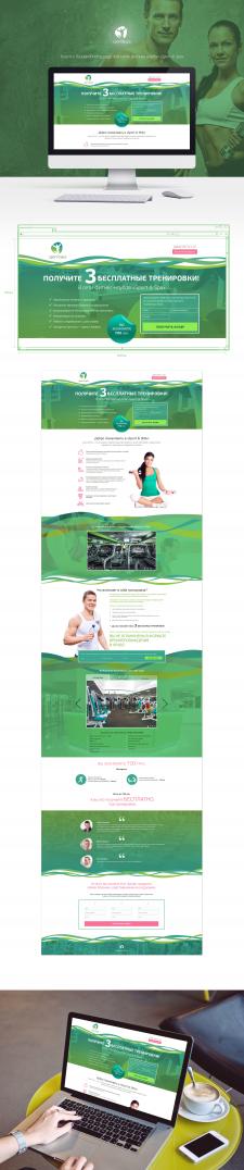 Лендинг для фитнес-центра Sport&Spa