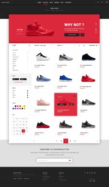 Страница Интернет Каталога Shoes store (Replica)