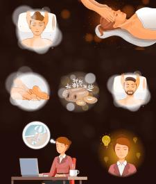 Иллюстрации для сайта массажных услуг