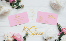 Rosespace. Визитка для магазина флористики