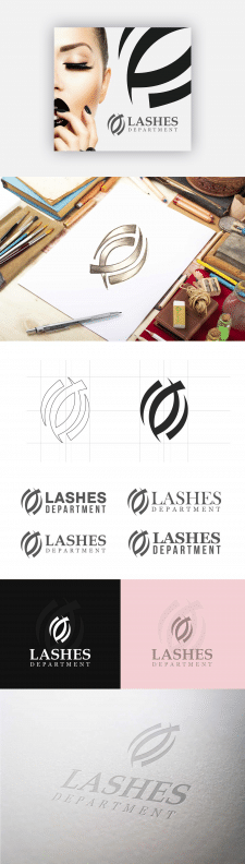 Разработка лого Lashes Department