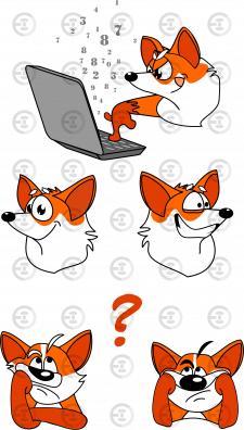 Персонаж для сайта Лиса