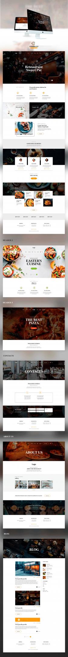 Оформление сайта для площадки Themeforest