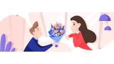 Иллюстрация для блога о цветах