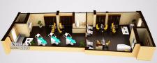 Визуализация планировки салона красоты