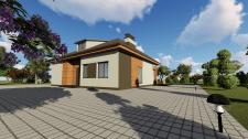 Ескізний проект одноповерхового житлового будинку