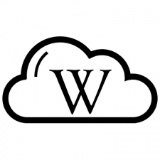Icon Cloud with W letter inside