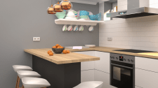 Вариант дизайна кухни в частном доме
