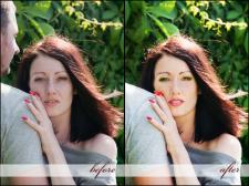 пример до и после ретуши портрета