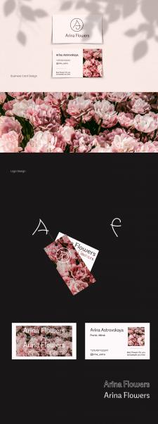 Визитка и логотип для цветочного магазина