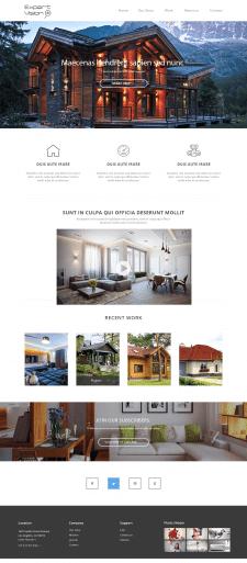Дизайн сайта строительной бригады