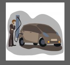 электромобиль заправка электромобиля