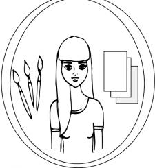 логотип художница