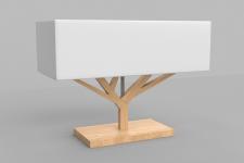 Lampe tree bois