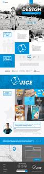 """Дизайн сайту для креативної агенції """"Jice"""""""