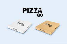 Pizza Box Logo and Package Design