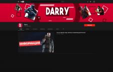 Пример оформления YouTube