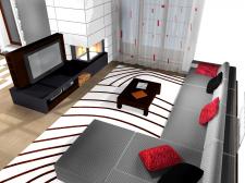 Интерьер жилого дома в стиле хай-тек