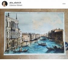 Картина /живопись акварелью (миниатюра )