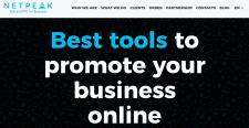 Сайт фирмы Netpeak