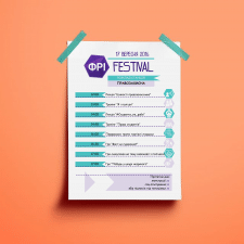 Макет расписания фестиваля