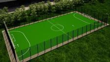 Міні футбольний майданчик зі штучним газоном  12 д